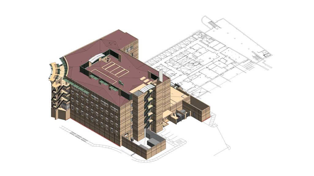 Sample building model referenced during the preconstruction and planning phase of any project
