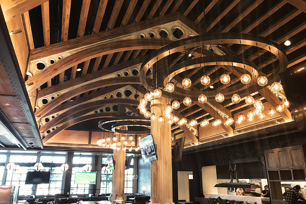 Acoustical ceiling at BBD's restaurant at Palace Station Casino in Las Vegas, NV