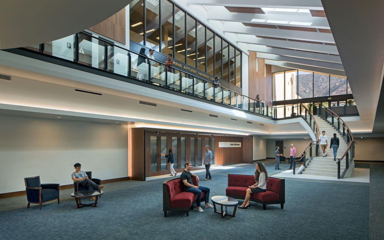 Pepperdine Law School open concept remodel with gathering areas for students