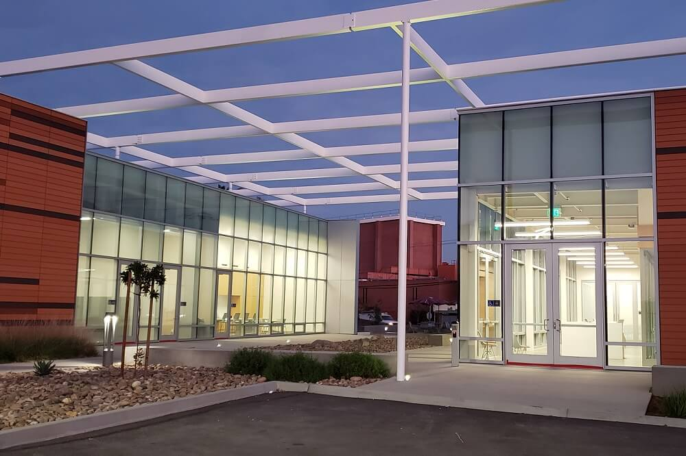 Architectural rendering of Palomar College's new Maintenance & Operations Building