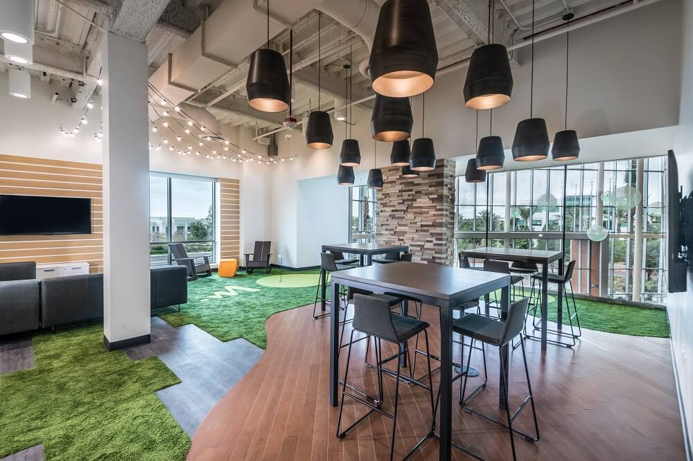 Inside look at Viasat headquarters where employees can gather, collaborate or kick back