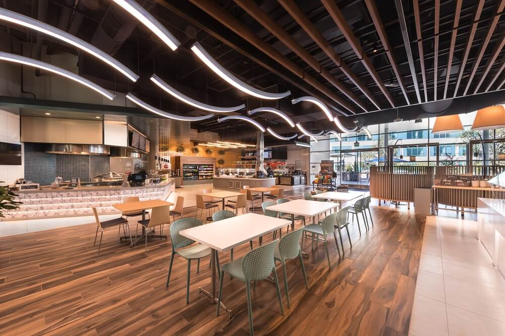 Inside look at Viasat headquarters complete with cafe and conference center