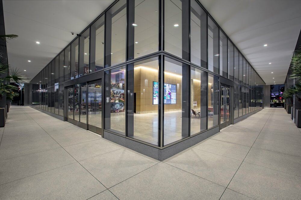Inside 400 Spectrum Center drive with glassed partitions