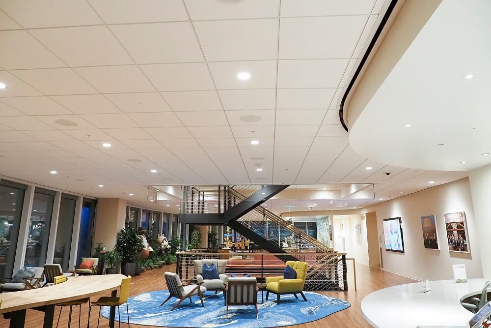 Salesforce Global Headquarters where employees work and socialize
