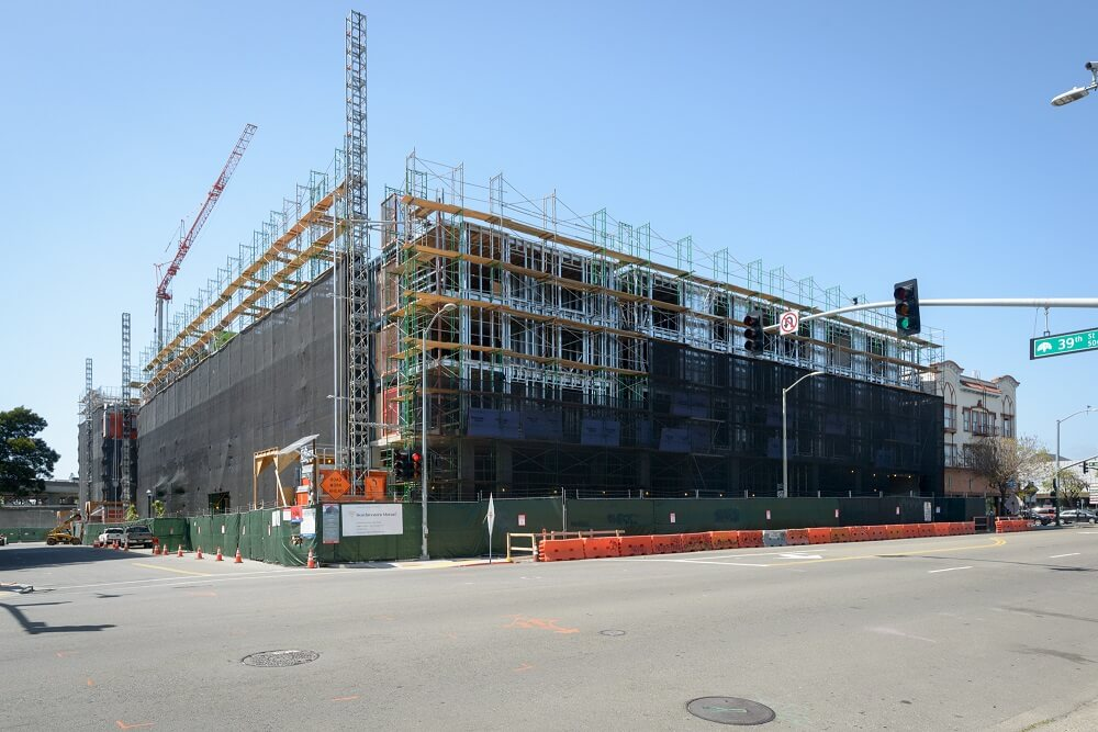 Photo of construction underway at MacArthur Station in Oakland, Cali.