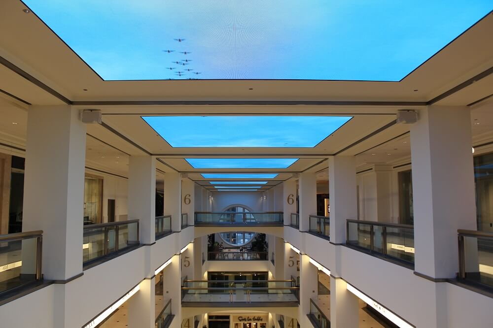 Inside the six-story shopping center at 900 N Michigan