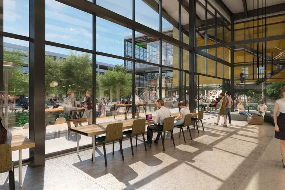 Rendering of Flight at Tustin Legacy common area