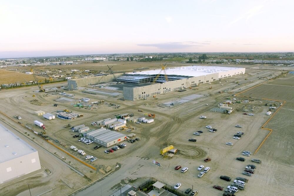 Bird's eye view of Project Cougar - a distribution center for Amazon.