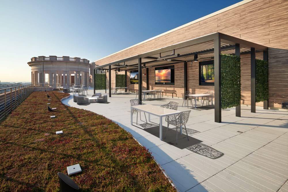AARP penthouse rooftop deck renovation